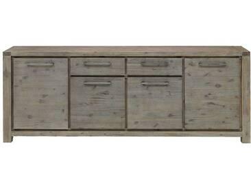Wohnzimmer Sideboard aus Akazie Massivholz Antik Finish