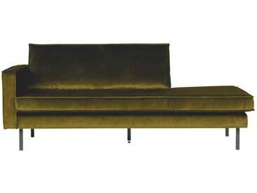 Sofa Recamiere im Retro Style Grün Samtbezug