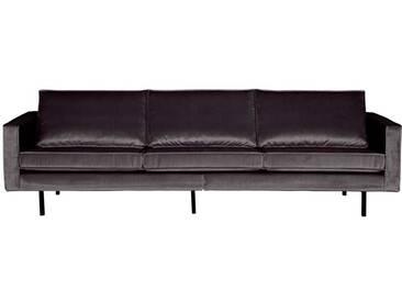 Retro Couch in Anthrazit Samtbezug