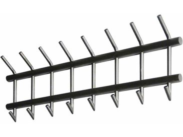 Hakengarderobe aus Edelstahl 90 cm breit