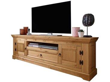 Landhaus TV Lowboard in Eichefarben Kiefer Massivholz