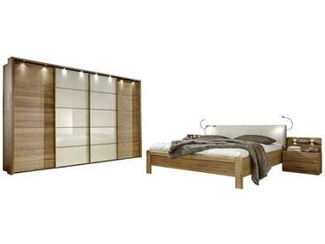 Schlafzimmer Einrichtung in Creme Eiche komplett (4-teilig)