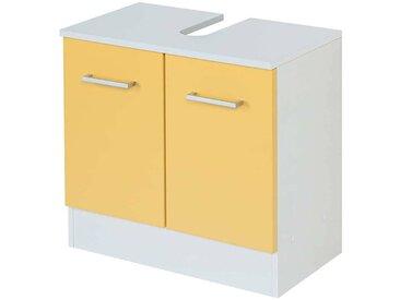 Waschkommode in Gelb und Weiß 60 cm breit