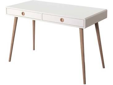 PC Tisch in Weiß Holz Retro Design