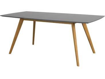 Retro Tisch in Grau 4-Fußgestell aus Eiche