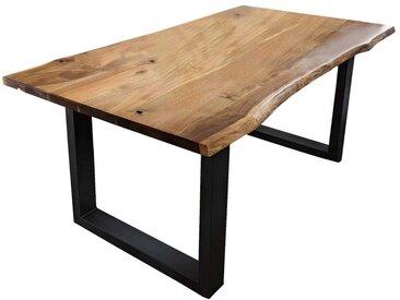 Esszimmertisch mit Baumkante Akazie Massivholz