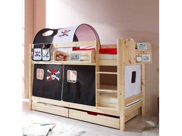 Kinderetagenbett aus Kernbuche Massivholz Piraten Design