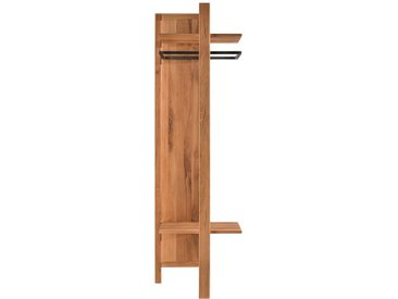 Garderobenpaneel aus Wildeiche Massivholz 200 cm hoch