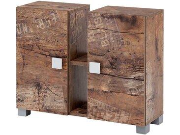 Waschschrank in Holzpaletten Optik modern