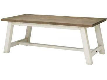 Esstisch aus Kiefer Recyclingholz Weiß