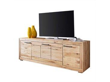 Fernsehmöbel aus Wildeiche Massivholz Klappe