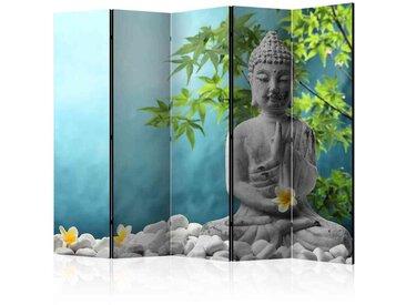 Spanische Wand mit Buddha Motiv 225 cm breit