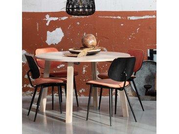 Runder Tisch aus Eiche Massivholz Mittelauszug