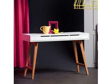 Schreibtisch Konsole in Weiß Buche 120 cm breit