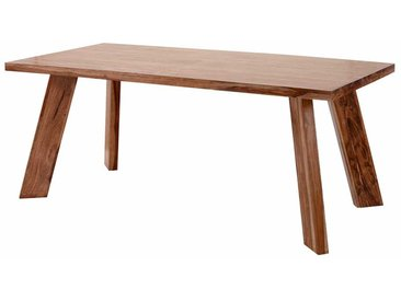 Echtholztisch aus Sheesham Massivholz lackiert