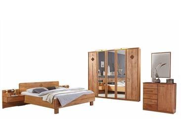 Schlafzimmereinrichtung aus Erle 180x200 cm (6-teilig)