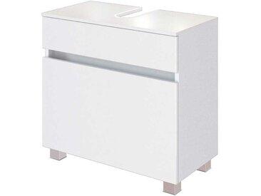 Waschtischunterschrank in Weiß 60 cm hoch