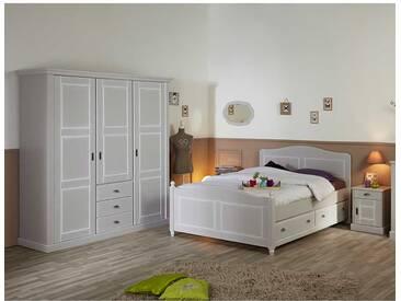 Schlafzimmer Einrichtung in Hellgrau Landhaus Design (4-teilig)