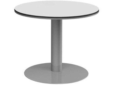 Runder Konferenztisch in Weiß Grau 90 cm