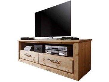 TV Lowboard aus Kiefer Massivholz zwei Schubladen