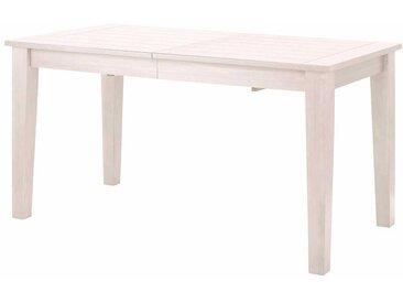 Echtholzesstisch in Weiß lasiert Landhausstil