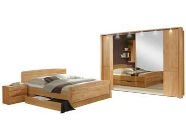 Schlafzimmer Einrichtung aus Erle Teilmassiv Made in Germany (6-teilig)