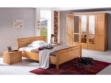 Schlafzimmer Einrichtung im Landhausstil Bernsteinfarben (4-teilig)
