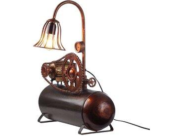 Design Tischlampe in Kupferfarben Eisen