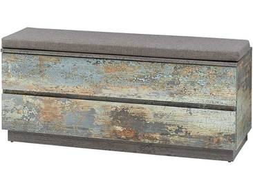 Garderobenbank mit Truhe Vintage Metall Optik