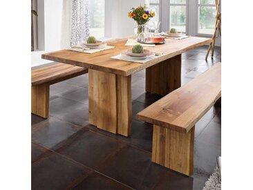 Baumkanten Esstisch aus Massivholz geölt