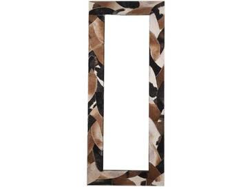 Design Spiegel mit Fell bezogen 80 cm