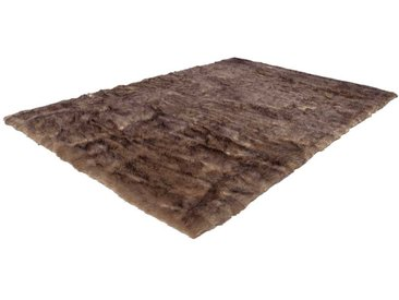 Kunstfell Teppich in Braun 6 cm hoch