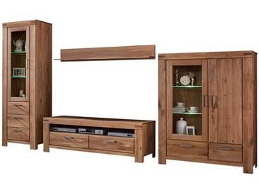 Wohnzimmer Einrichtung aus Wildeiche Massivholz geölt (4-teilig)