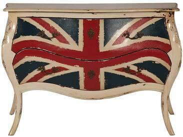 Schubladenkommode im Union Jack Design massiv