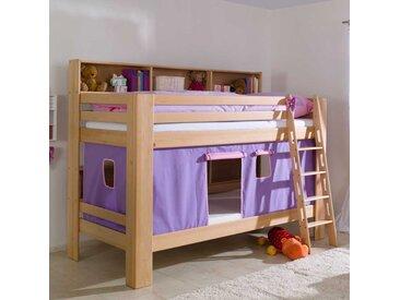 Etagenbett mit Vorhang Buche massiv