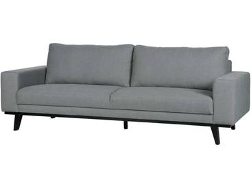 Retro Sofa in Grün Webstoff 230 cm breit
