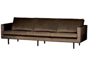 Retro Sofa in Taupe Samtbezug