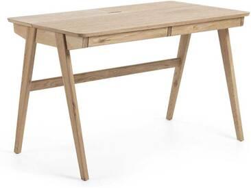 PC Tisch mit Esche furniert Skandi Design