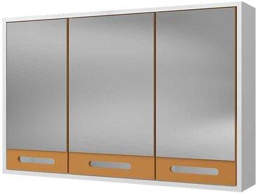 Badezimmer Spiegelschrank in Weiß und Gelb skandinavischen Design