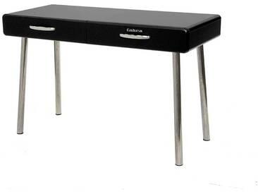 PC Tisch in Schwarz lackiert Retro