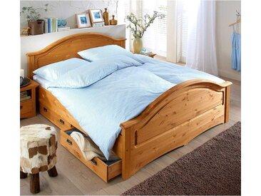 Landhaus Holzbett aus Kiefer Massivholz geölt