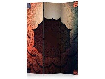 Leinwand Paravent in Bunt Mandala Motiv