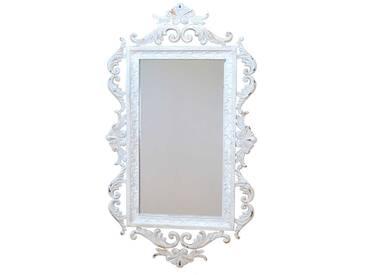 Barockspiegel in Weiß Stahl
