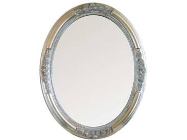 Barockspiegel in Silber Oval