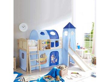 Kinderhochbett aus Kiefer Massivholz Piraten Design