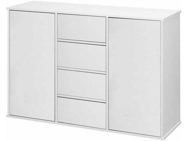 Weiße Anrichte 120 cm breit Push-to-open-Funktion