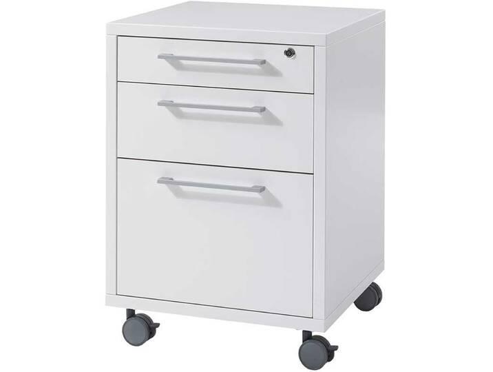 Kommoden und Container - Schreibtischcontainer in Weiß abschließbar  - Onlineshop Moebel.de