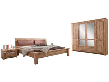 Schlafzimmer Einrichtung aus Eiche teilmassiv komplett (4-teilig)