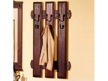 Garderoben Paneel aus dunklem Kieferholz