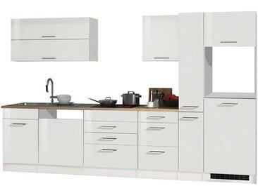 Hochglanz Einbauküche in Weiß Geräte (8-teilig)